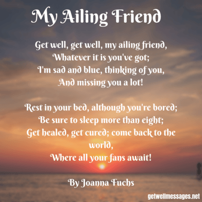 ailing friend get well poem