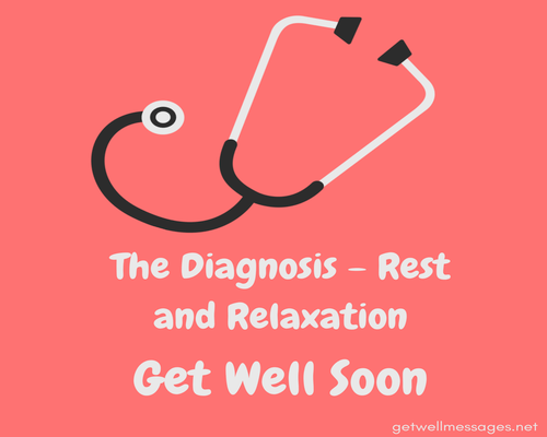 get well soon message after surgery stethoscope