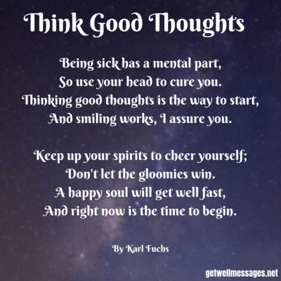 think good thoughts inspirational poem
