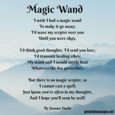 magic wand get well poem